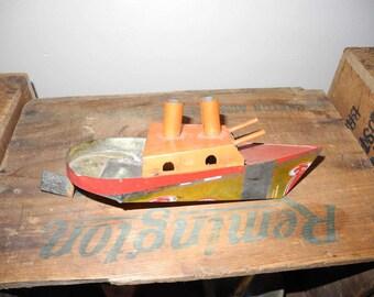 Vintage Vietnam War Bring Back PON-PON Boat Putt-Putt Boat Steam Engine Boat