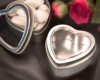 Heart Candy Tins 25 DIY Party Favor Tins Ideal for Wedding Favors, Bridal Showers, Baby Showers Parties and Special Events