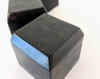 Facial Soap - Lime Charcoal Bentonite  -- Glycerine Handmade Soap