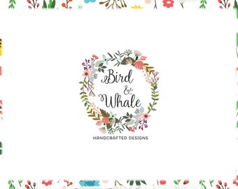 Floral Wreath Logo Design & Blog Header - Web, Print Files - Limited Edition! Perfect For Boutique, Photographer, Floral Stylist + more!