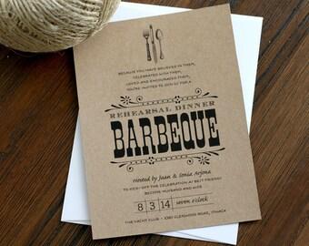 Rehearsal Dinner BBQ Invitation