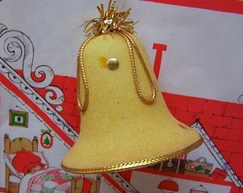 gold flocked bell ornament
