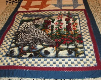 TABLE RUNNER, Country Hens, Home Decor, Cabin,  Cottage,  Kitchen,  Dining,  Table Décor,  Hostess Gift,  Linens, Gifts for Women