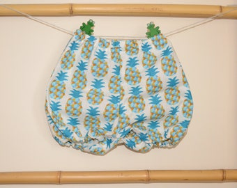 Bloomer, onesie, bloomers, shorts, baby and toddler pineapple
