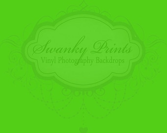 6ft x 4ft SOLID Lime Green ----- Vinyl Photography Backdrop