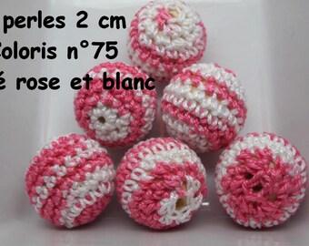 2 perles 20mm au crochet coloris 75
