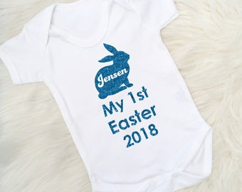 Twin baby gift baby gift set prince princess new baby boy personalised 1st easter baby vest easter bodysuit first easter easter gift easter negle Images