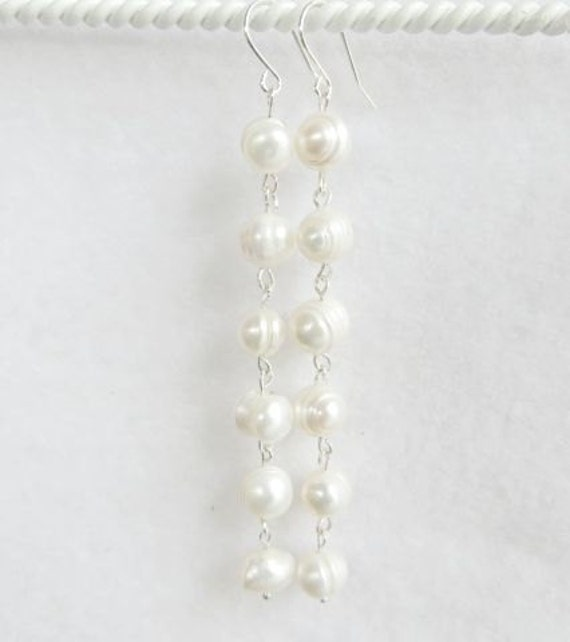 chain long zirconia jewelry earrings products pearl grande drop cubic dangle loxlux