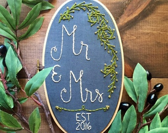 2018 Cotton Anniversary Gift. Woodland Wedding, Bridal Shower Gift. Wedding Anniversary Gift. Mr and Mrs Sign, Personalized Sign by KimArt