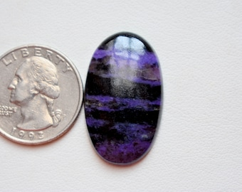 32 x 18 Natural Charoite  cabachon - hand polished - jewelry making natural charoite #GP8889