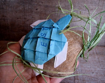 Map Turtle - Graptemys origamys Paperweight Ornament Origami Art by Paper Disciple and  Tanja Sova