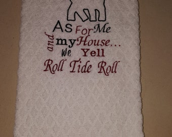 Roll Tide Roll Kitchen Towel
