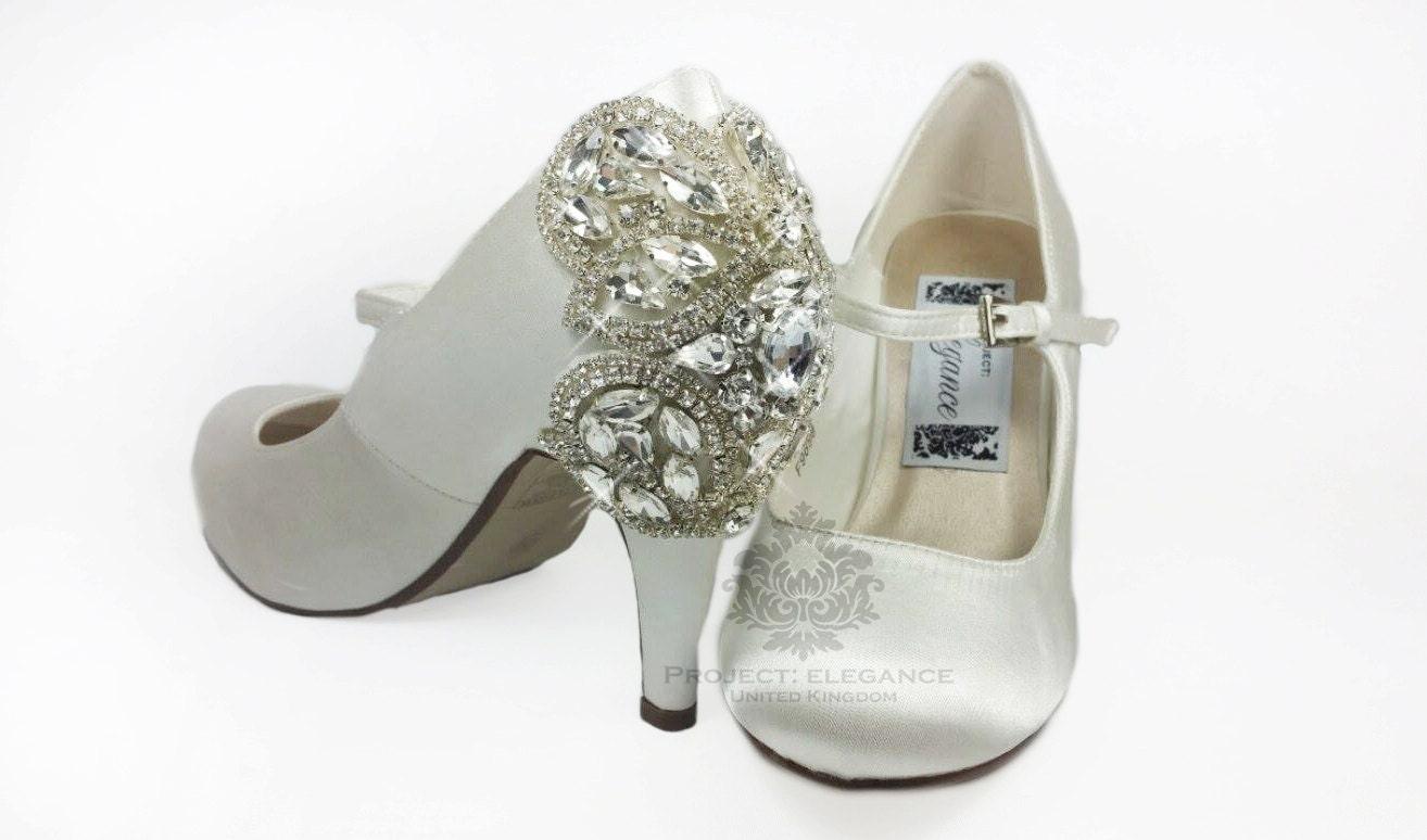 Limited Edition: Mid Heel, Medium Heel Wedding Shoes, Crystal Wedding Shoes,  Crystal Back Wedding Shoes