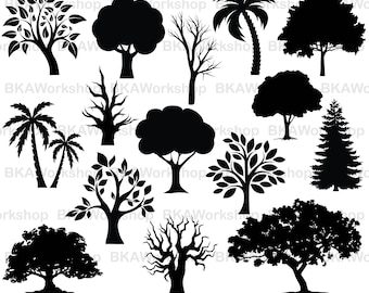 Tree svg - Tree vector - Tree clipart - Tree bundle - Tree digital clipart for Design or more,file download svg, png, dxf