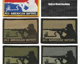BuckUp Tactical Morale Patch Hook All American INFDL Patches 3x2""