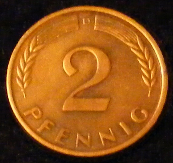 1950 2 PFENNIG . . Great Investment . .