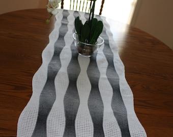 Black & White Table Runner