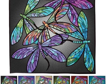 Hoffman - Dance of the Dragonflies - Precut Fabric Quilt Kit with Pattern - Multi - JHKIT-130