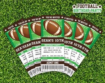 Football Ticket Invitation Printable - Instant Download Editable PDF