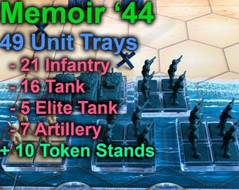 Memoir '44 Unit Tray Complete Set with 10 token stands