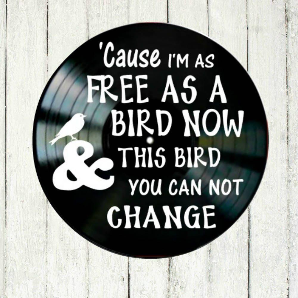 song lyric art free bird by lynyrd skynyrd music inspired. Black Bedroom Furniture Sets. Home Design Ideas