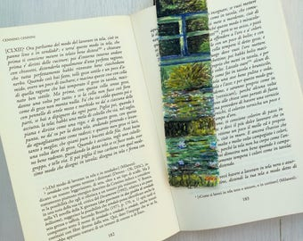 Bookmark Watercolor, handmade, paper bookmarks, custom bookmarks, wedding favors-Impressionists #3