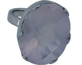 Rosa Ring - Sterling Silver Rose Quartz Ring
