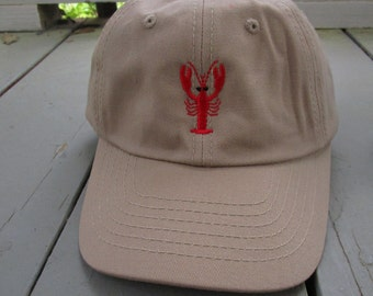Childs Embroidered Crawfish Hat with Optional Personalization
