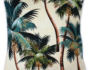 Hawaiian Tropical Palm Trees cushion cover beach island coastal chic