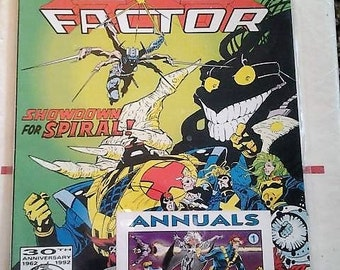 X-factor annual 7//shattershot part three//1992//marvel comics//marvel annuals//comes with annuals shattershot card number 1//vf-nm