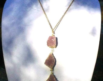 Auralite 23 Cluster Triple Wire Wrapped Crystal Healing Gold Plated Necklace: Clears Body, Mind & Spirit.  Great for Empaths. Only 1 # 04