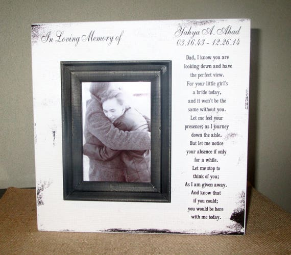 Personalized In Loving Memory Dad Father of the Bride Wedding