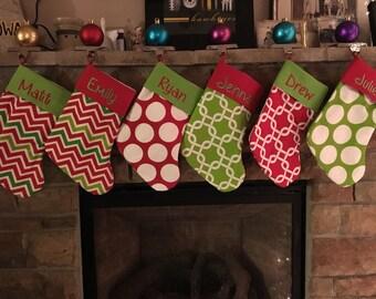 Handmade Personalized Stockings