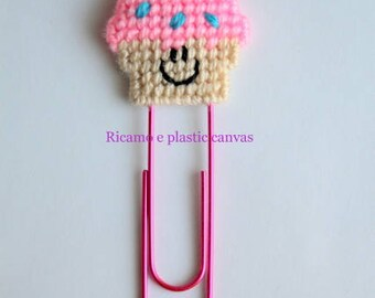 Cupcake Paper Clip, Large Paperclip, Cupcake Bookmark, Planner Clip, Planner Accessories, Giant Paper Clip, Planner Bookmark, Readers Gift