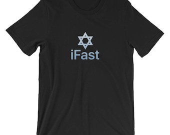 iFAST Star Of David Shirt | Israel Jewish Fasting Day Atonement Tee | Jewish Holiday Synagogue Fast Tee | Yom Kippur Holiest Day Best Tshirt