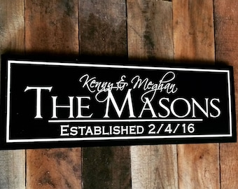 Personalized Family Sign with Names / Sign for Home / Wedding Gift / Name Sign / Sign for Wedding / Family Name Sign / Custom Wood Sign