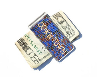 MONEY CLIP, Moneyclip,  Groomsmen Gifts, Father's Day Gift, Gift for Dad, Downtown Photo, NYC Subway,