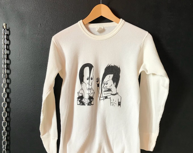 """90s MTV Beavis & Butthead """"The Misfits"""" Graphic Vintage Thermal"""