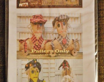 Primitive Pull Toy Printed Pattern, Sewing Patterns, Primitive Craft Patterns