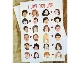 I Love You Like Card, Anniversary Card, Geeky Love Card, Funny Greetings Cards, Movie Lover, Pop Culture Card, funny boyfriend birthday card