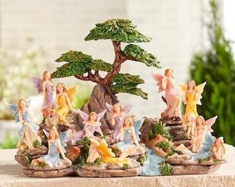 Miniature Garden - Enchanted Garden Fairies - Set of 12 - Miniature Fairy Garden Supplies