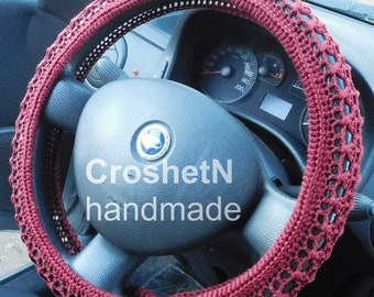 Car Accessories Car Gifts Crochet Wheel Cover Car Decor Wheel Cover for car Steering wheel cozy Wheel cover Steering wheel cover  H18001