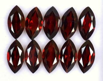 Beautiful Natural Garnet Marquise Cut 10x5 mm Lot 10 Pcs AAA Quality Reddish Shade Gemstones Wholesale Lot