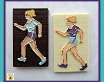Female Runner Chocolate Gift/Jogger/Marathon/Track Athlete Girl/Womens Running Gift/Jogging/Woman Sport/Edible gift/Wife/Girlfriend/Sister
