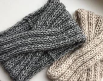 Knit Turban-Alpaca Wool Headband-Women headband-Turban headwrap-Alpaca Bandeau laine-Wide headband-Women Headband-Knit turban Headwrap
