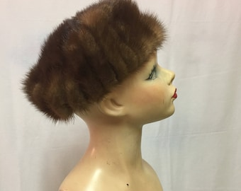 1960's Mink Stretch Beret