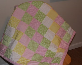 Pink Sweetheart Baby Quilt