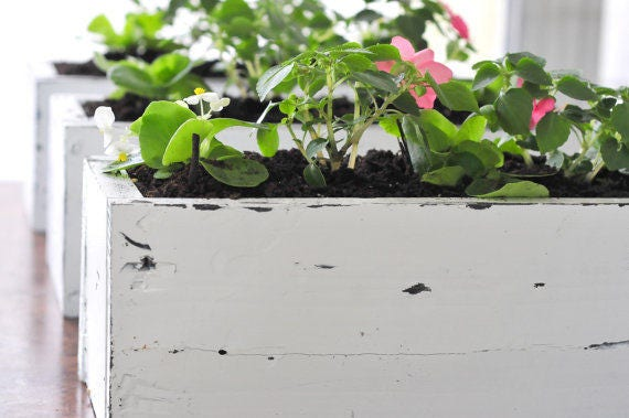 S A L E : Wood Flower Box | Planter Box | Planter | Flower Box | Wood Box | Flowers | Succulents | Farmhouse Decor | Home Decor | Garden | C