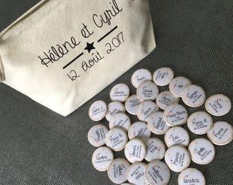 Wedding welcome badges