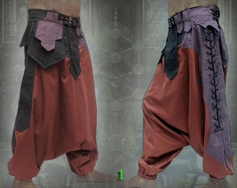 Sumerian Pants ~ apocalyptic neo tribal Aladdin sarouel Harem pantalon